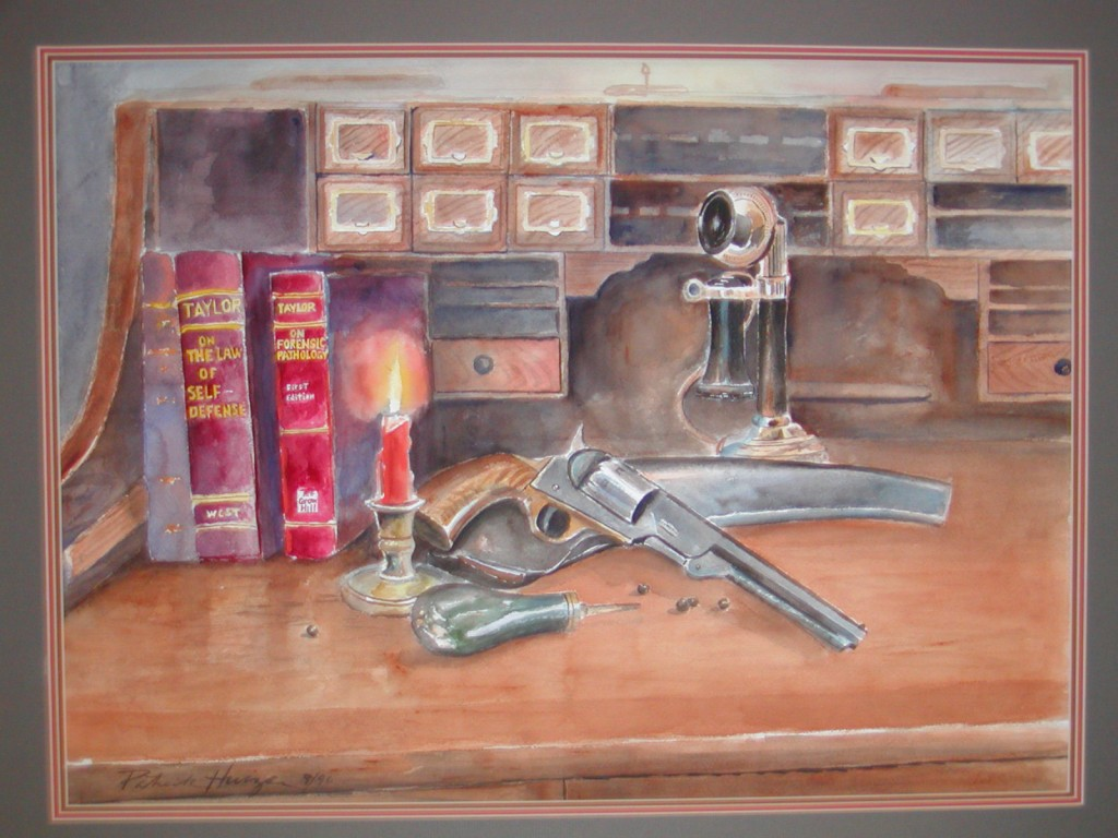 Painting that hung in the office entryway of Ray Taylor and Phillip Spicer.